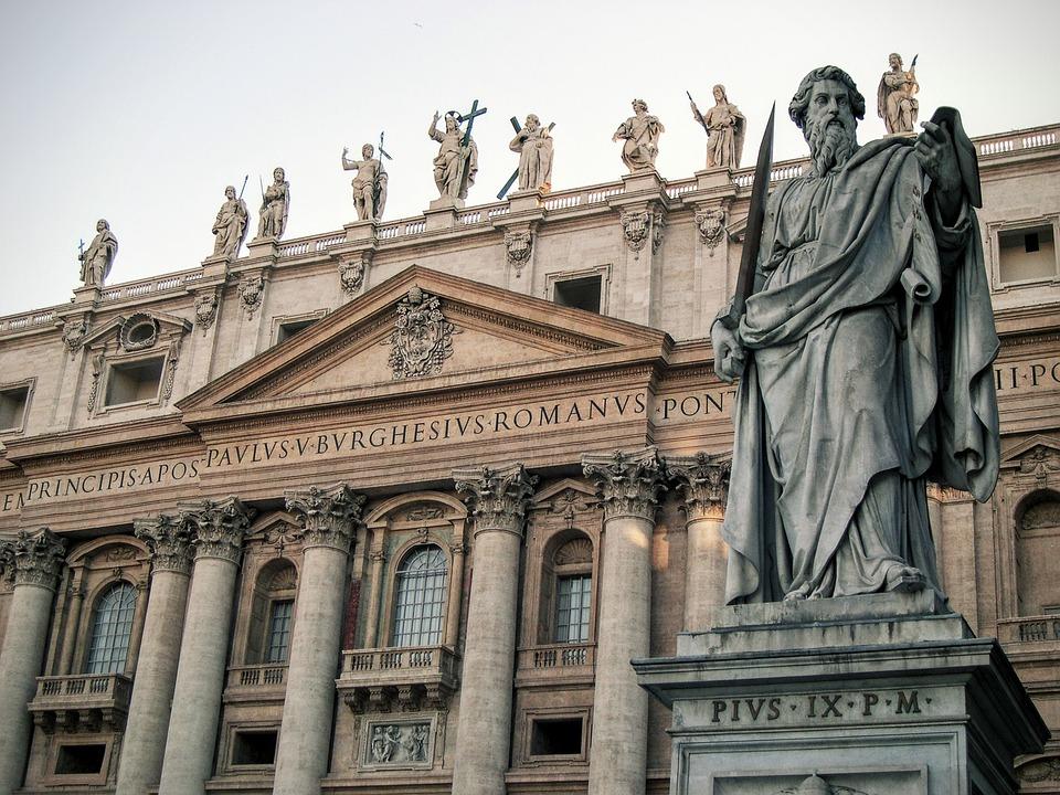 San Pedro, Rome, Church, Statue, Italy, Sculpture, Art