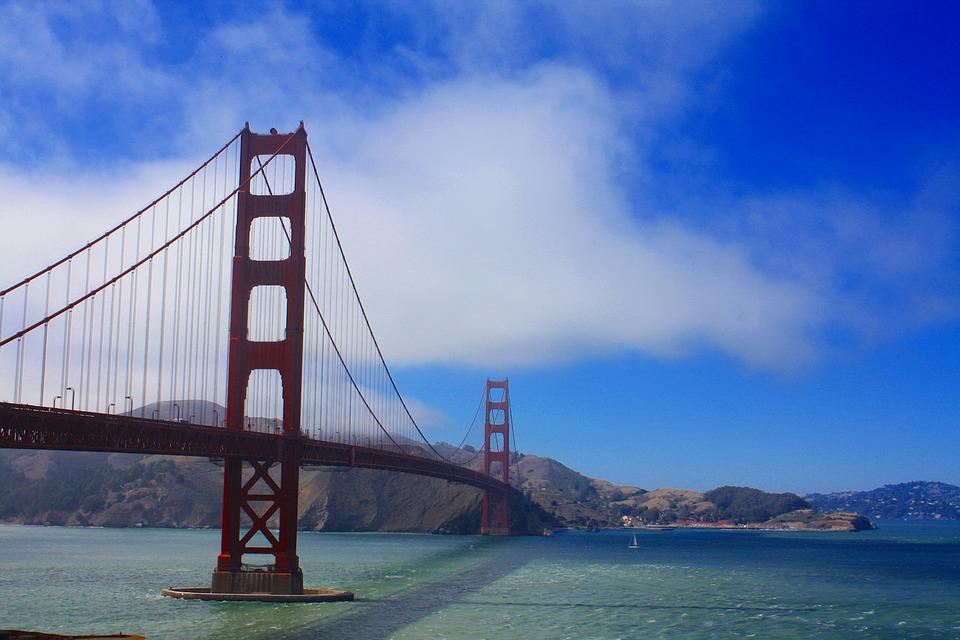 San Fransisco, Golden Gate Bridge, California, Bay, San