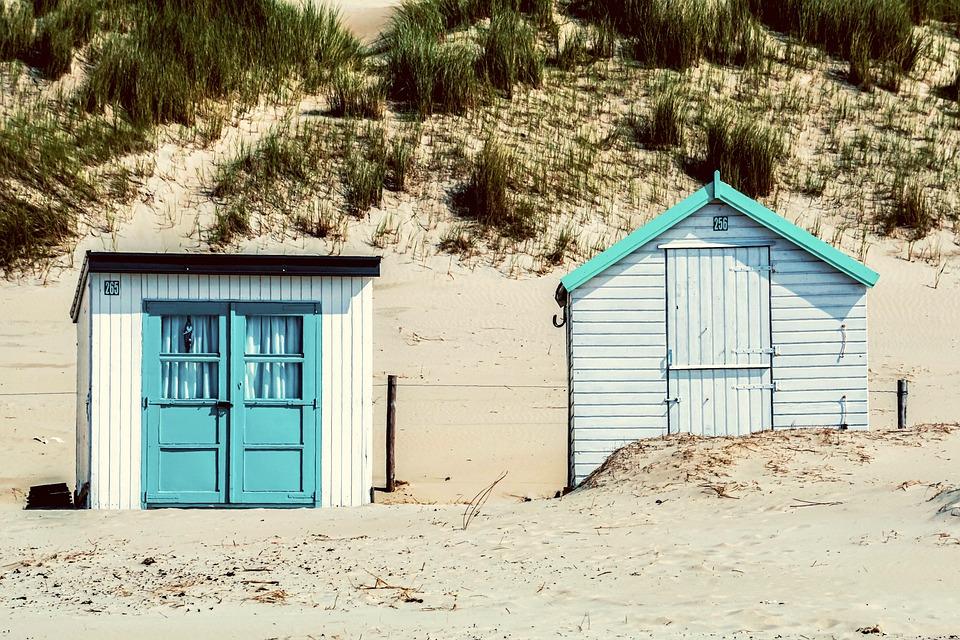 Beach House, Beach, Hut, Beach Hut, Sand, Landscape
