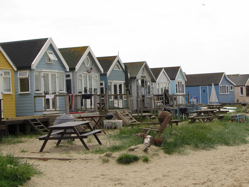 Beach Hut, Beach, Hut, Holiday, Sea, Sand, Sky