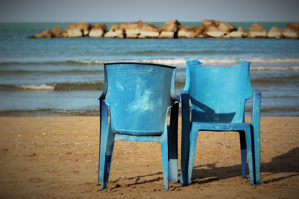 free photo sand beach chair holidays sea wood solitude max pixel