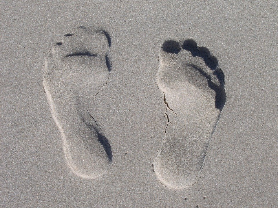 Sand, Reprint, Feet, Sole, Ten, Impression, Beach
