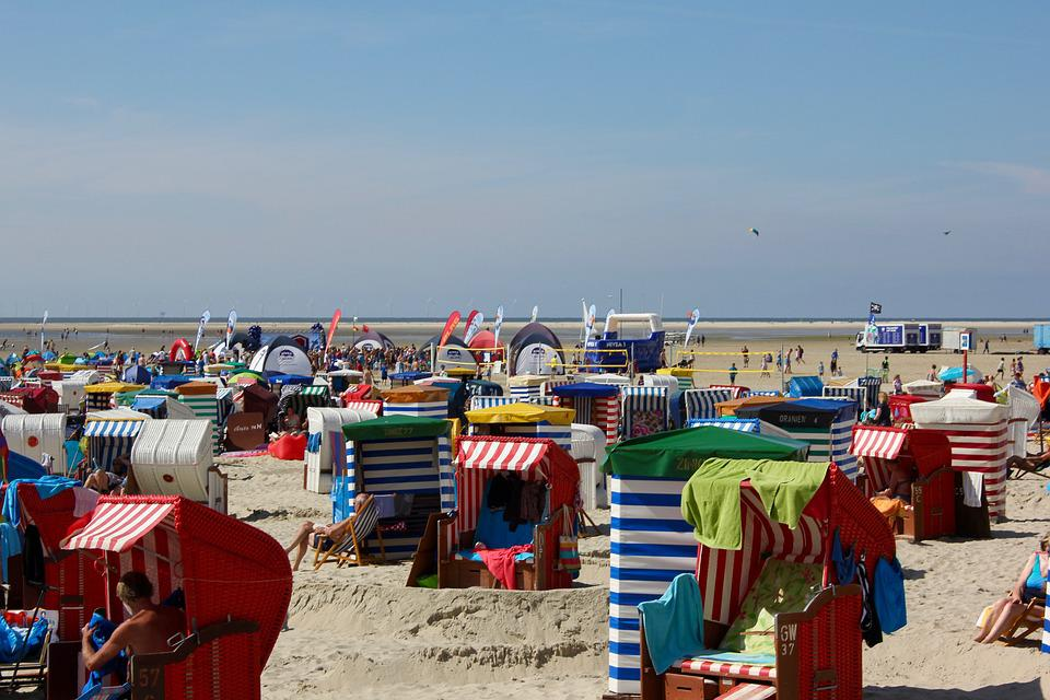 Beach, Beach Chair, Sand, North Sea, Holiday, Coast