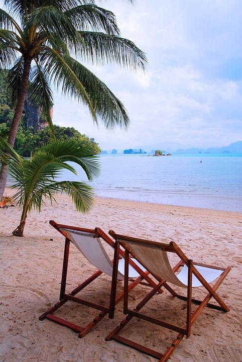 Thailand, Sand Beach, Holiday, Palm Trees