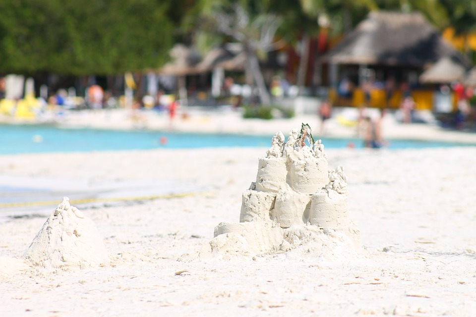 Sand, White Sand, Summer, Beach, Sand Castle