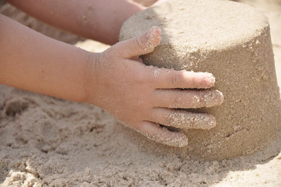 Sand, Hand, Beach, Summer, Vacation, Outdoor, Young