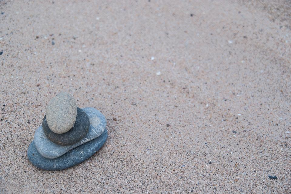 Beach, Sand, Stones, Zen