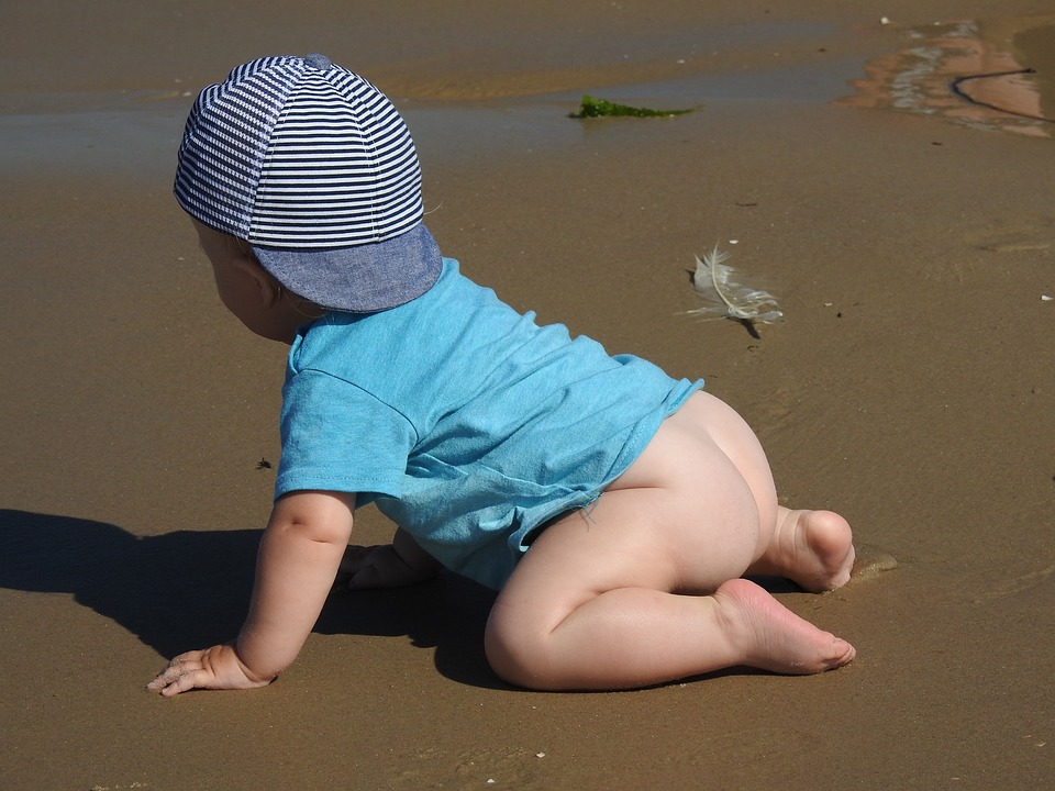 Baby, Beach, Sand, Happiness, Sunbath, Nice, Boy