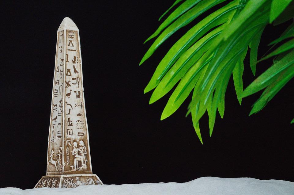 Obelisk, Palm, Egypt, Close, Sand, Background, Nobody