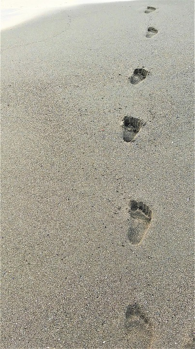 Sand, Beach, Footprint, Costa, Sandy, Summer, Sea