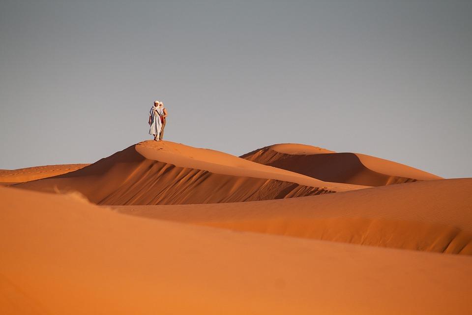 Desert, Morocco, Sand, Sand Dune, People, Bedouin, Red