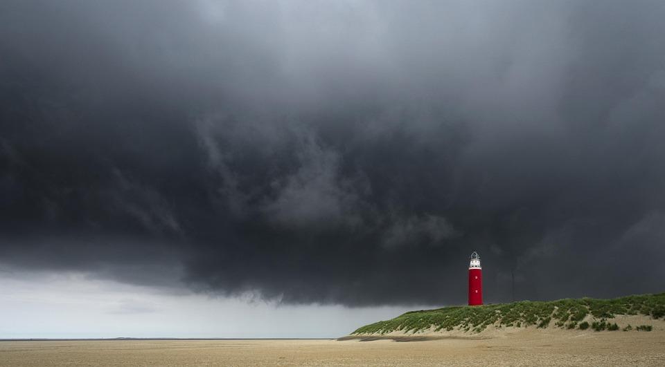 Texel, Lighthouse, North Sea, Sand, Sea, Beach, Dunes