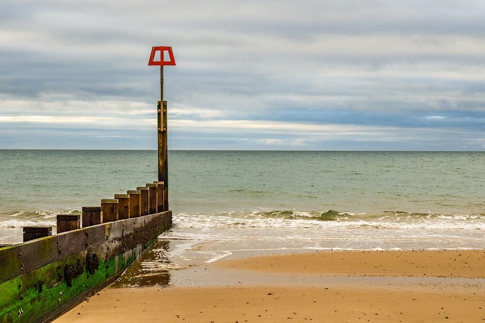 Beach, Empty, Sea, Sand, Ocean, Horizon, Winter
