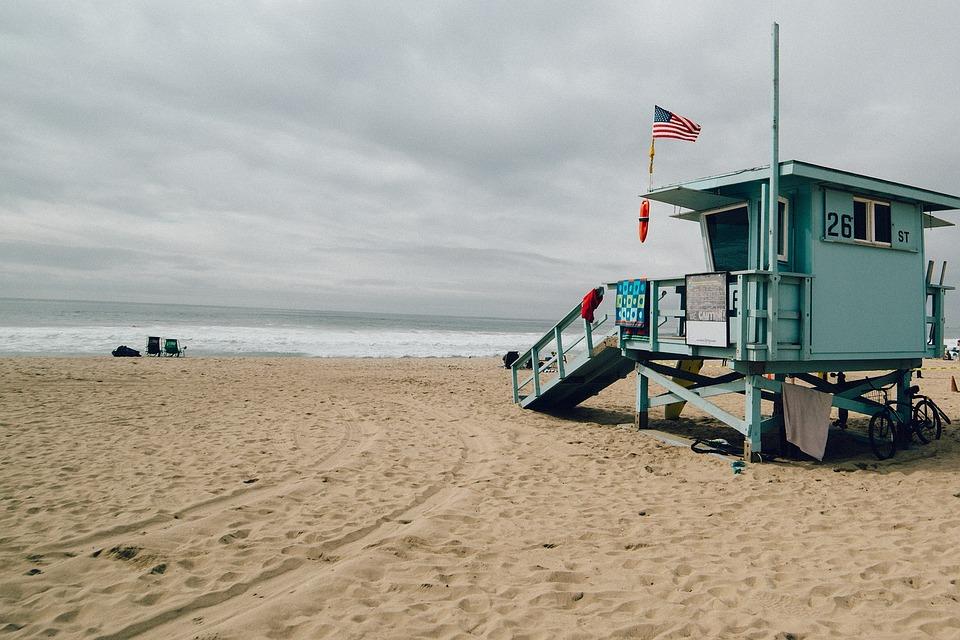 Beach, Lifesavers, Hut, Shed, Empty, Nobody, Sand