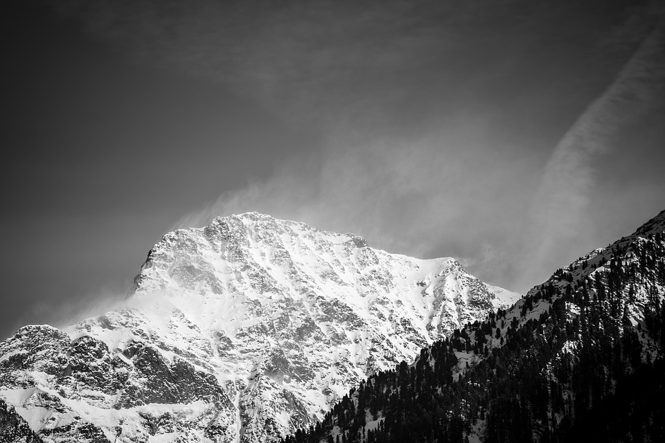 Sand In Taufers, South Tyrol, Mountains, Snow