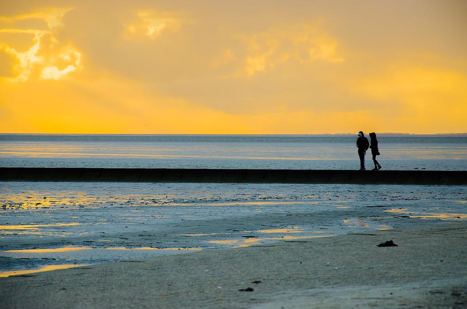 Romance, Love, Lanyard Sunrise, Sunset, Sand, Beach