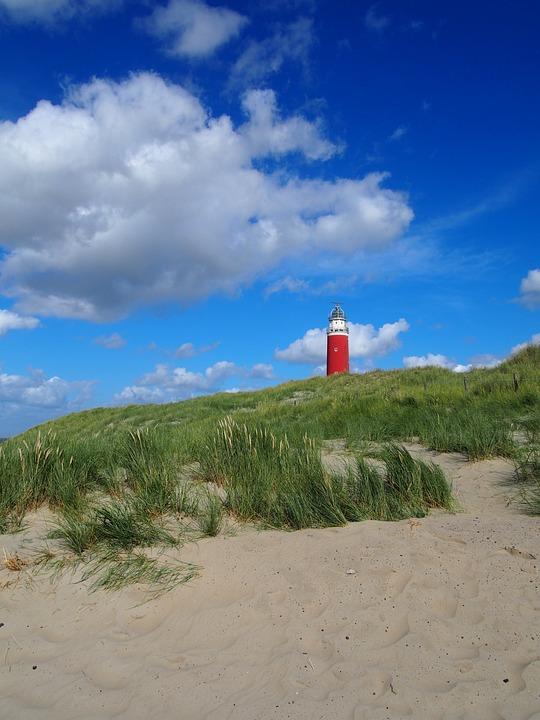 Lighthouse, Beach, Clouds, Coast, Coastline, Sand