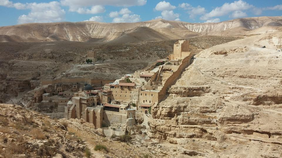 Mar Saba Monastery, Monastery, Greek Orthodox, Sand