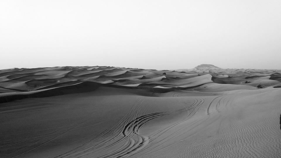 Landscape, Desert, Sand, Panoramic, Nature, Dry, Dubai