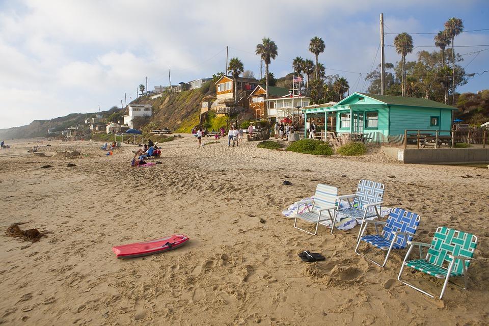 Beach, Empty, Beach Chairs, No People, Sand
