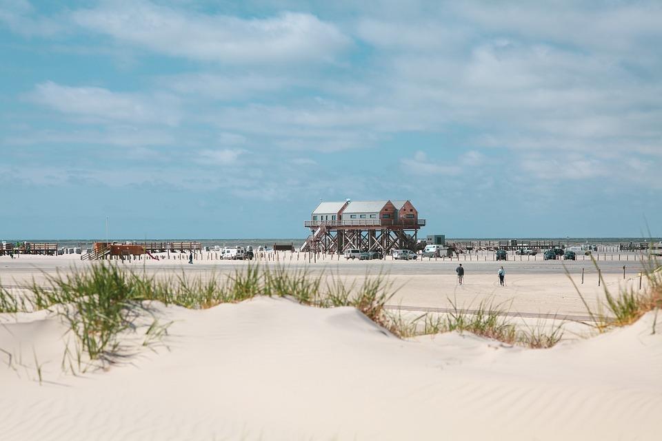 Beach, Sand, White Sand, Vacations, North Sea, Sea
