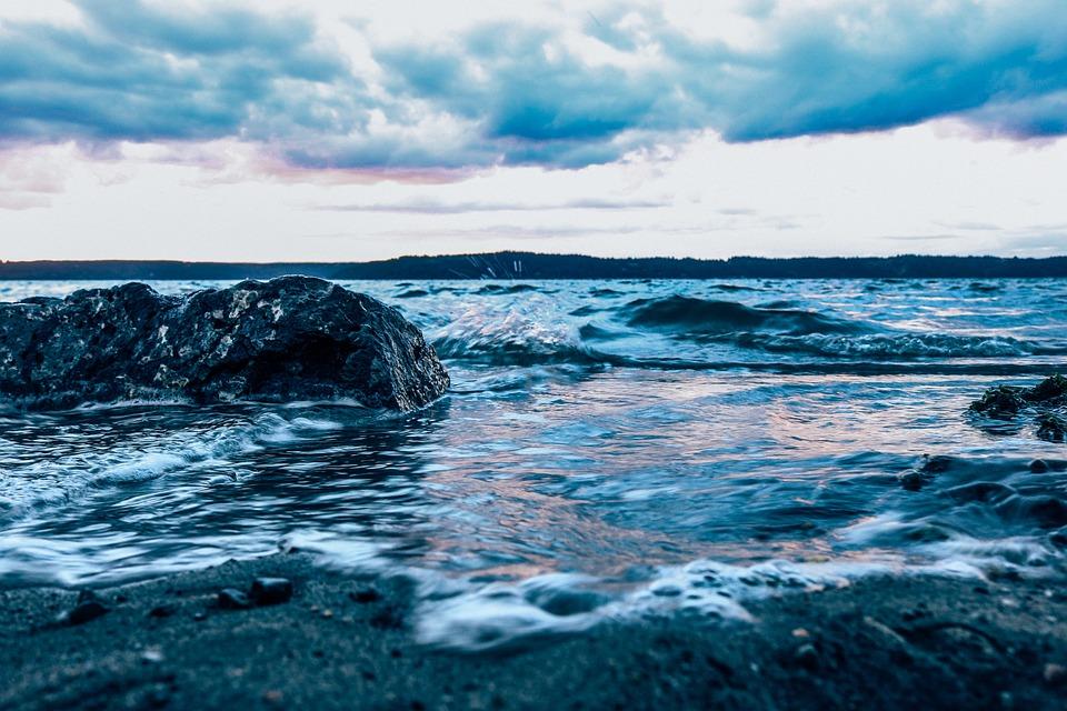 Ocean, Blue Sea, Sand, Waves, Pacific, Sea, Water, Blue