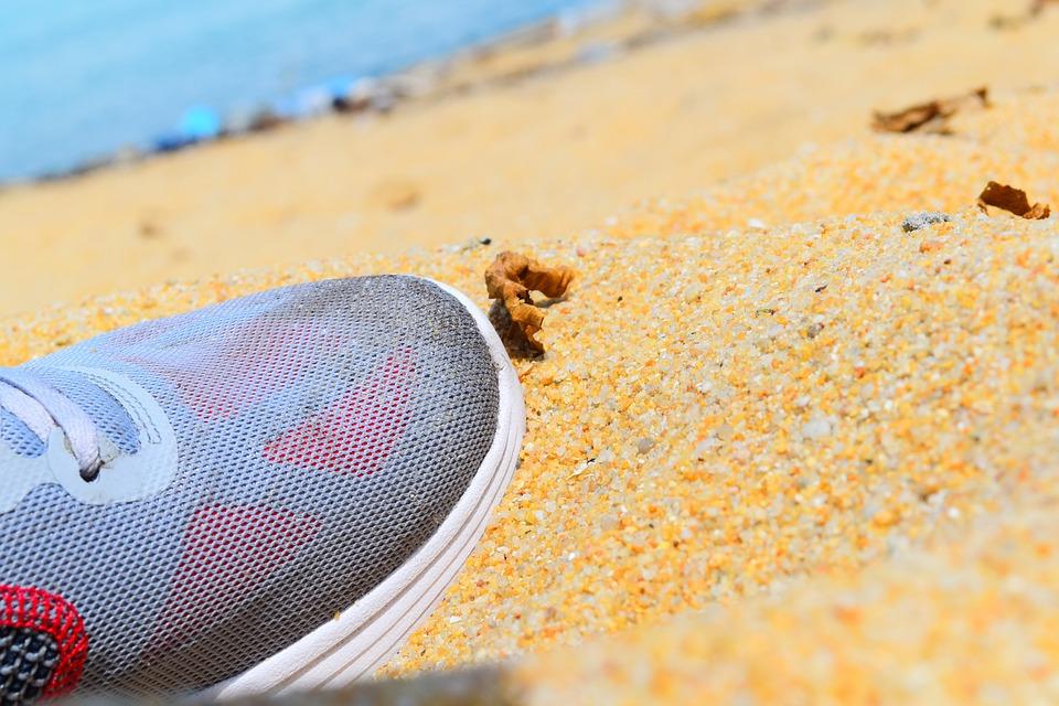 Shoe, Beach, Summer, Sand, Vacation, Sea, Travel, Ocean