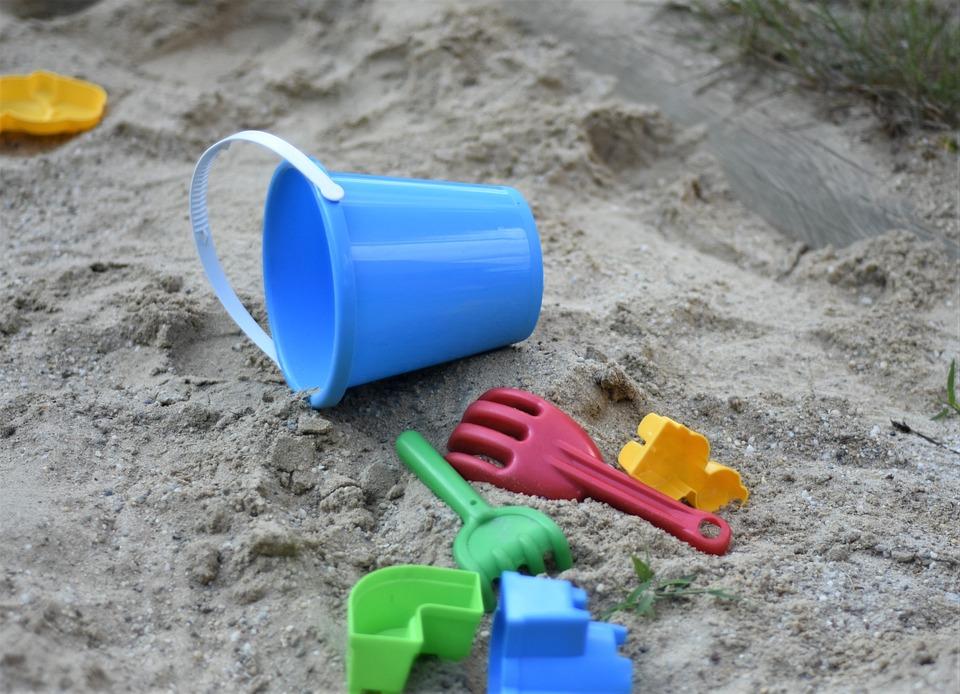 Toys, Sand Pit, Plastic, Playground, Bucket, Blade