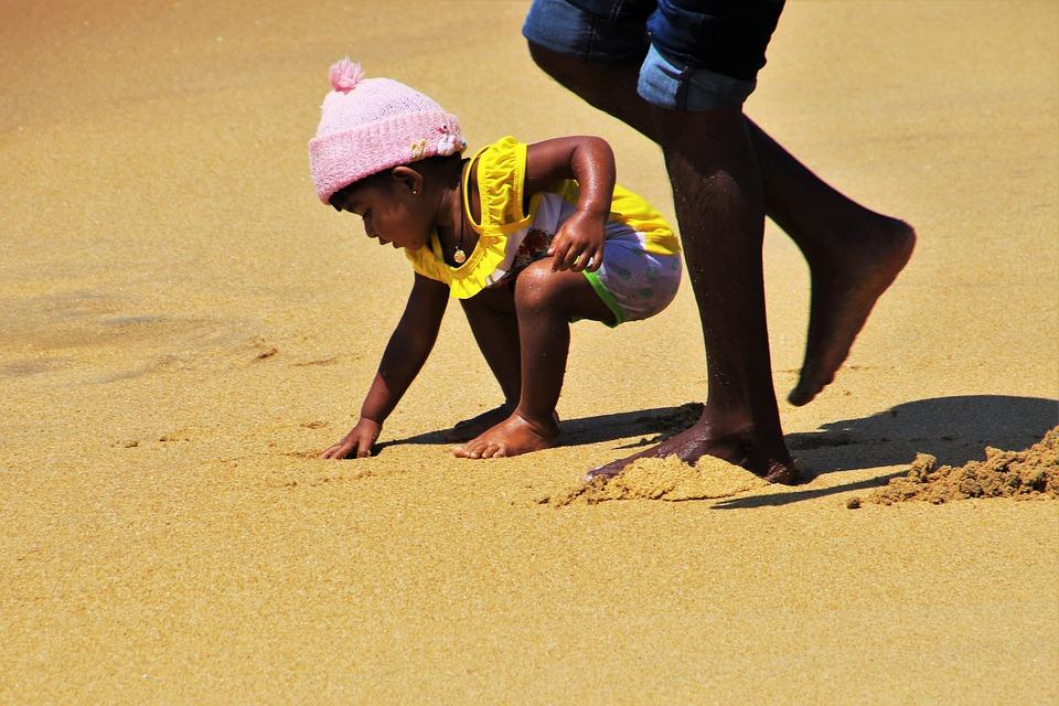 Child, Relax, Sand, Beach, People, The Coast, Fun