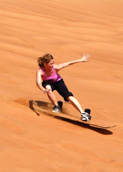 Sandboarding, Sand Board, Sand, Dune, Surf, Snowboard
