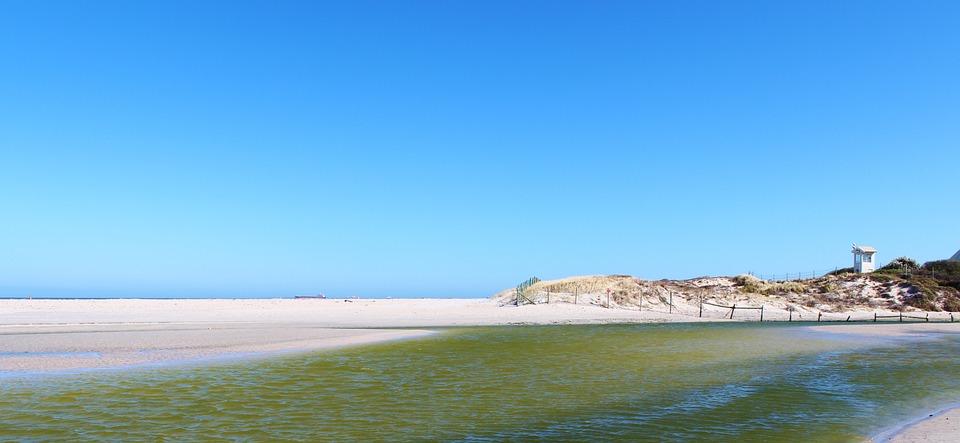 Beach, Sand, Lagoon, Sea, Sky