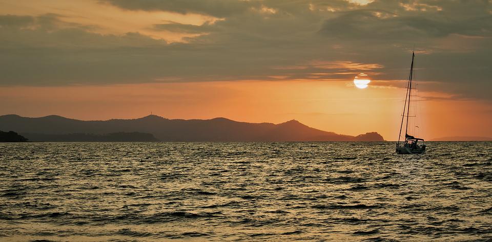 Beach, Boat, Sea, Sunset, Water, Sand