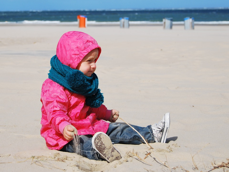 Child, Beach, Sea, Girl, Sand