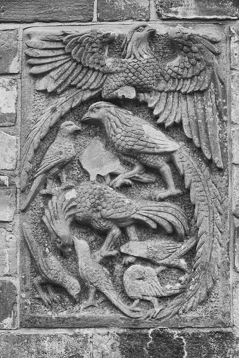Pheasants, Relief, Sand Stone, Historically, Bird