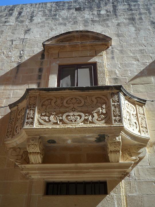 Light, And, Shadow, Balcony, Sand Stone, Window