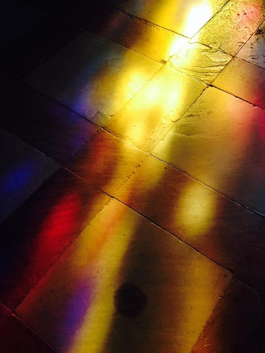 Light, Shadow, Church Window, Sand Stone, Colorful