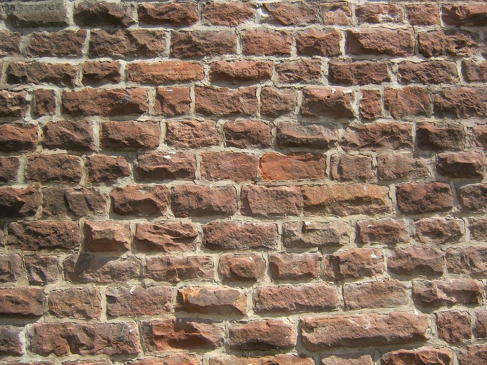 Brick Wall, Brick, Sand Stone, Wall, Natural Stone