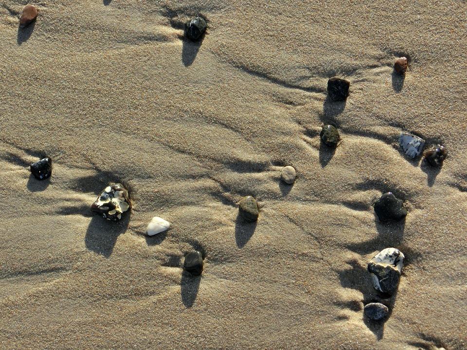Beach, Stones, Sand