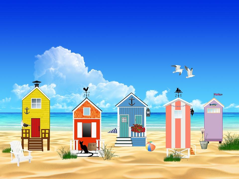 Beach Ocean Sea Sand Sun Landscape Huts Fishing