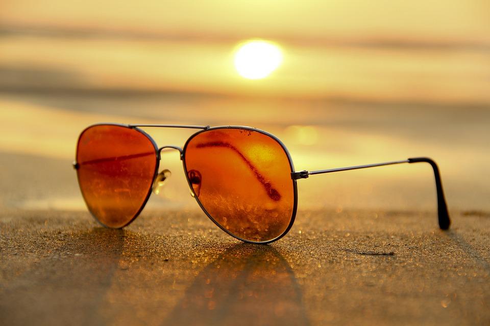 Sunset, Beach, Sunglasses, Sand, Summer
