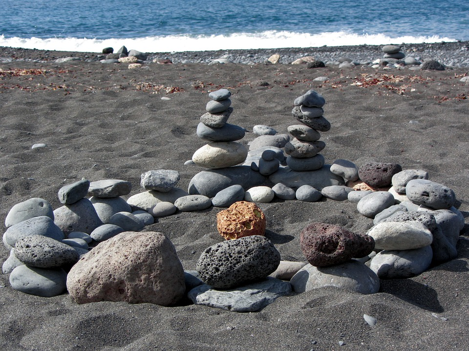 Beach, Stones, Wave, Blue, Sand, Coast, Relaxation