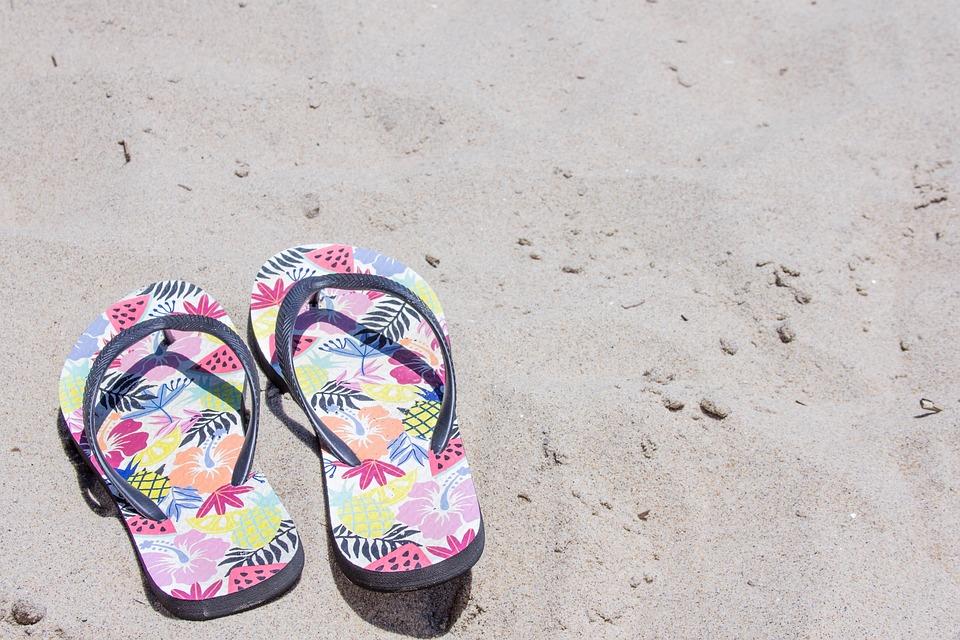 Sandals, Flip Flops, Sand, Beach
