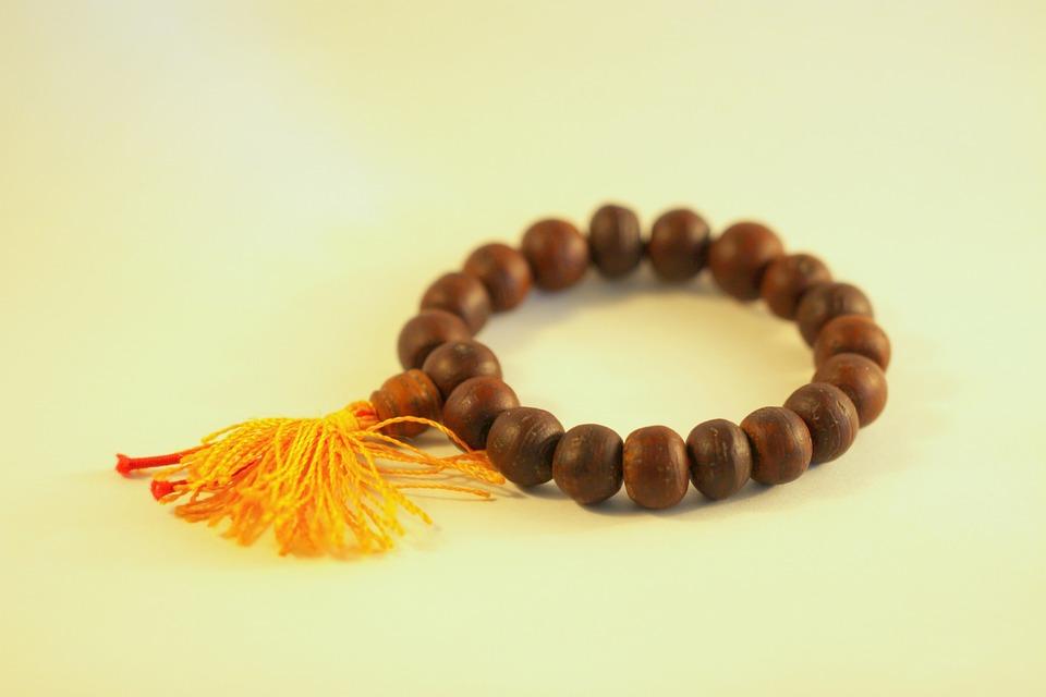 Tibet, Beads, Prayer, Wood, Bracelet, Sandalwood