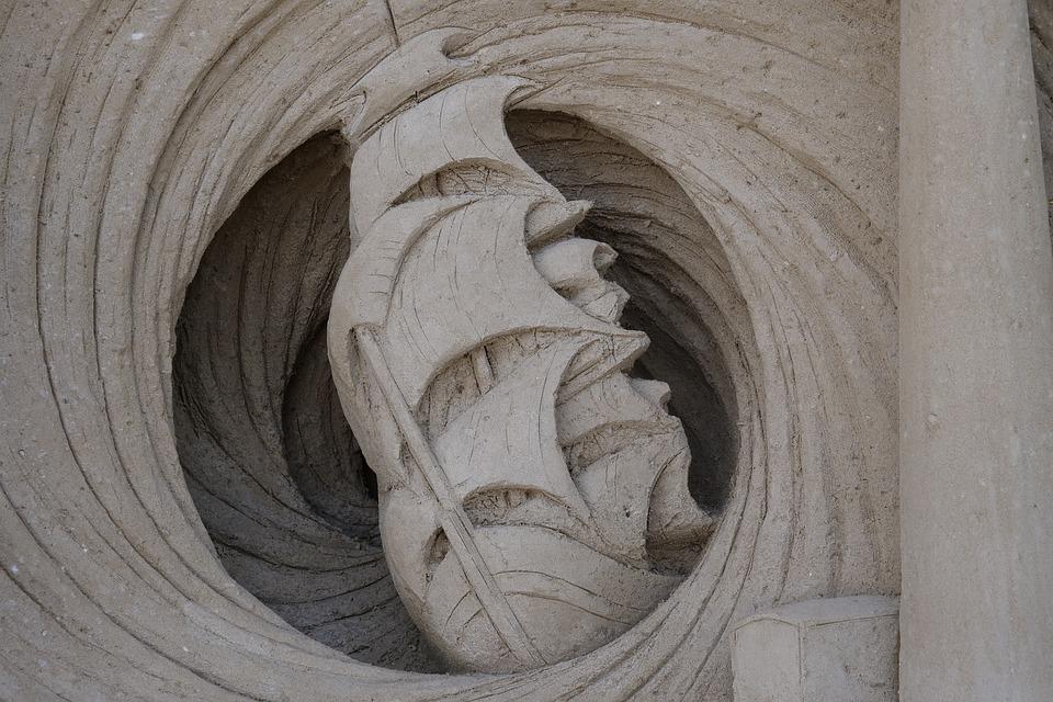 Sand, Sand Sculptures, Artwork, Sculpture, Sandburg