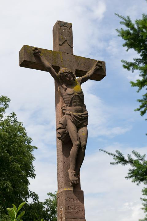 Cross, Sandstone From The Vosges, Calvary, Jesus Christ