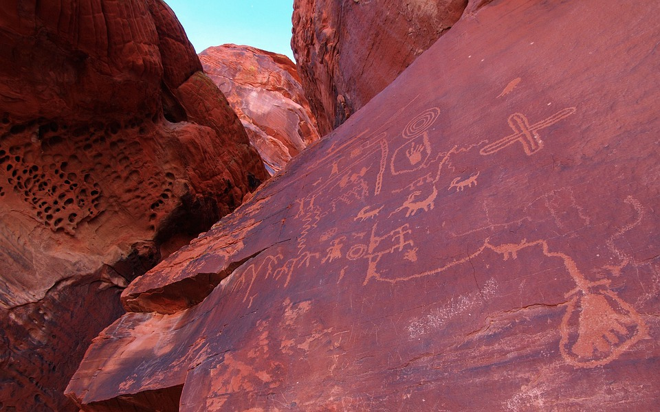 Valley Of Fire, Sandstone, Idaho, Petroglyphs, Symbols