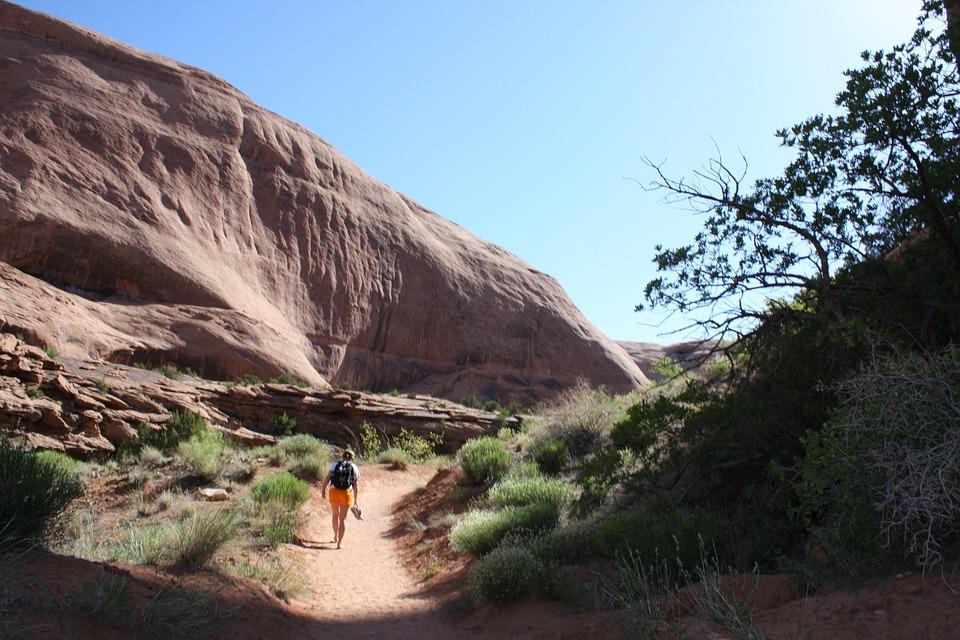 Moab, Utah, Sandstone, Red Rock, National Park, Park