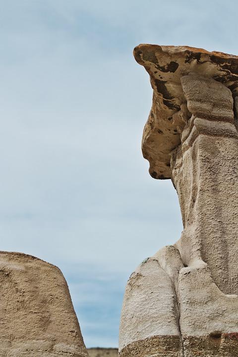 Badlands, Sandstone, Rock Formations