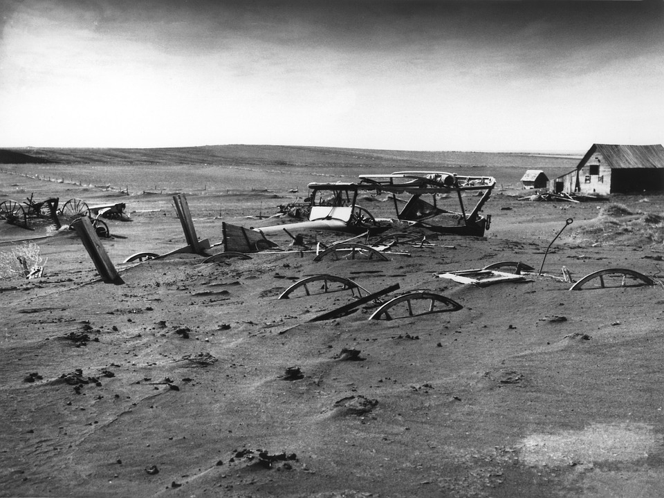 Buried, Devastated, Devastation, Sandstorm, Dust Bowl