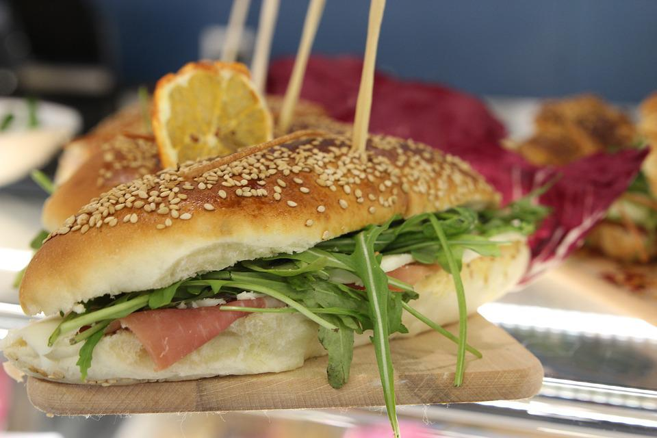 Food, Aperitif, Sandwich, Rocket Salad, Ham, Cheese